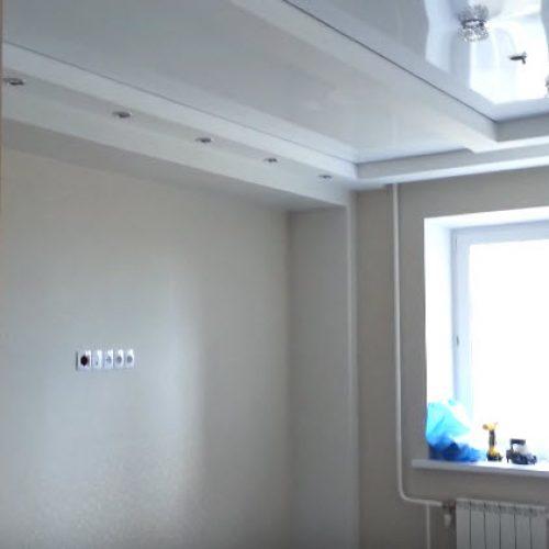 Комбинированный натяжной потолок и гипсокартон