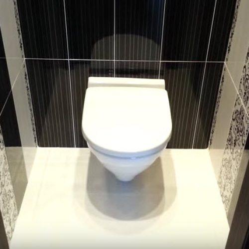 Отделочные работы в туалете санузла