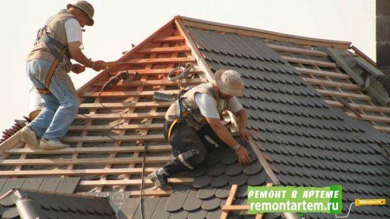 Монтаж крыши, кровли в городе Артёме недорого от строителей отделочников компании ООО.РЕМОНТ АРТЁМ
