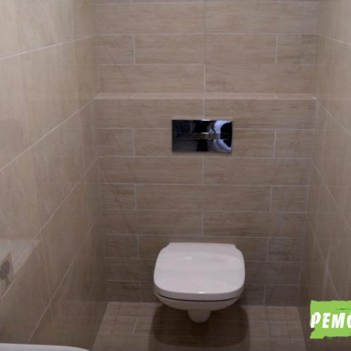 Отделка туалета в санузле новостройки города Артём