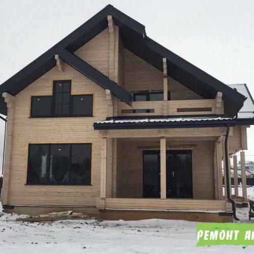 Фото строительство дома из бруса в Артёме