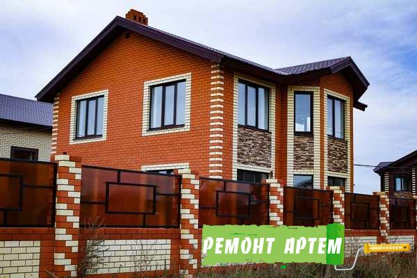Построенный дом из кирпича в Артёме нашей компанией