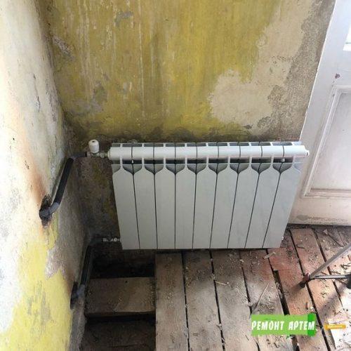 Замена радиаторов отопления и стояков в Артёме